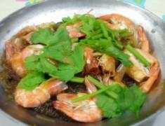 สูตรอาหารไทย : กุ้งอบวุ้นเส้น สูตรอร่อยเหมือนทานที่ร้านอาหาร