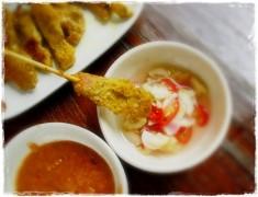สูตรอาหารไทย : หมูสะเต๊ะ + น้ำจิ้ม + อาจาด อร่อยเหาะ