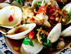 สูตรอาหารไทย : หอยตลับผัดฉ่า รสชาติกลมกล่อม