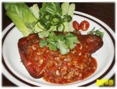 สูตรอาหารไทย : ปลากะพงราดพริกสามรส