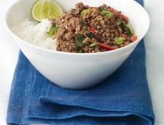 สูตรอาหารไทย : กระเพราเนื้อสับ กับ ข้าวหอมมะลิร้อนๆ