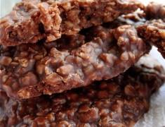สูตรขนมไม่ต้องอบ_คุกกี้ช็อกโกแลตไม่ต้องอบจากข้าวโอ๊ต